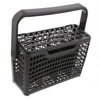 Šedý košíček na příbory pro myčku nádobí AEG, Privileg - 4 oddíly s uchem
