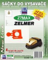 Sáčky do vysavače ZELMER Jupiter ZVC 422 HQ 4000.0, 4ks + filtry