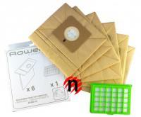 Sáčky a HEPA filtr pro Rowenta Compacteo, Ergo, 6ks sáčků, 1 x HEPA ZR004101