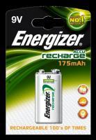 Baterie Energizer nabíjecí 9V / 175mAh 1ks