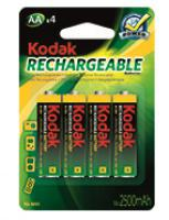 Baterie KODAK nabíjecí AA /2500mAh 4ks