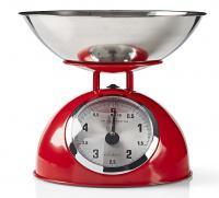 Mechanická kuchyňská váha König HC-KS60 červená