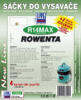 Sáčky do vysavače ROWENTA - RB 800...839 textilní 4ks