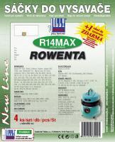 Sáčky do vysavače ROWENTA - RU 824 textilní 4ks