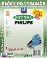 Sáčky do vysavače PHILIPS Duathlon textilní, 4ks