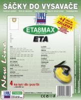 Sáčky do vysavače ETA 1412 Hot Aquill textilní, 4ks