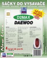 Sáčky do vysavače Daewoo Max Mobil 1400 Space Silber textilní 4ks