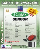 Sáčky do vysavače SENCOR - SVC 520 RD textilní 4ks