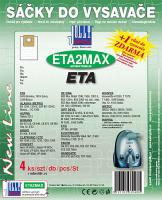 Sáčky do vysavače DE SINA BSS Max Mobil 2000rot/schwarz textilní 4ks