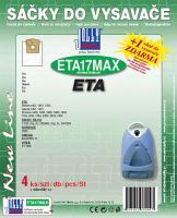 Sáčky do vysavače ETA Trimo 0499 textilní, 4 ks a filtr