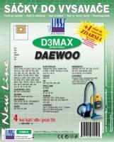 Sáčky do vysavače Daewoo Polleo (D3MAX) textilní 4ks