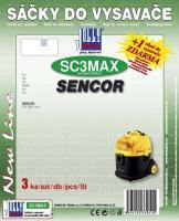 Sáčky do vysavače Sencor SVC 3001 Orca textilní (SC3MAX) 3ks