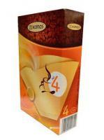 Papírové filtry do kávovaru velikost 4, nebělené 100ks