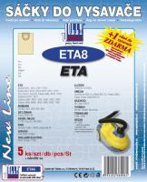 Sáčky do vysavače ETA 1412 Hot Aquill papírové, 5ks