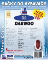 Sáčky do vysavače Daewoo RC 704, 705D, 707D 5ks
