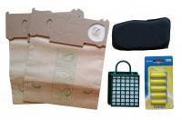 Sáčky do vysavače VORWERK Folletto VK 131 10 ks, HEPA filtr, pachový filtr, 5 x vůně