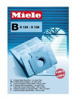 Originální sáčky Miele typ B, S 125 - S 138, 5ks