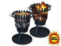 Přenosné ohniště kulaté SOL - koš 50 cm