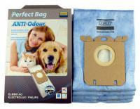 Sáčky Anti-Odour Perfect Bag ELMB01AO pro vysavače AEG, Electrolux, Philips - 4 ks a filtr