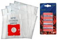 Sáčky do vysavače Worwo MPMB02K Plus Pack mikrovlákno, 8 ks a 5 vůní růže