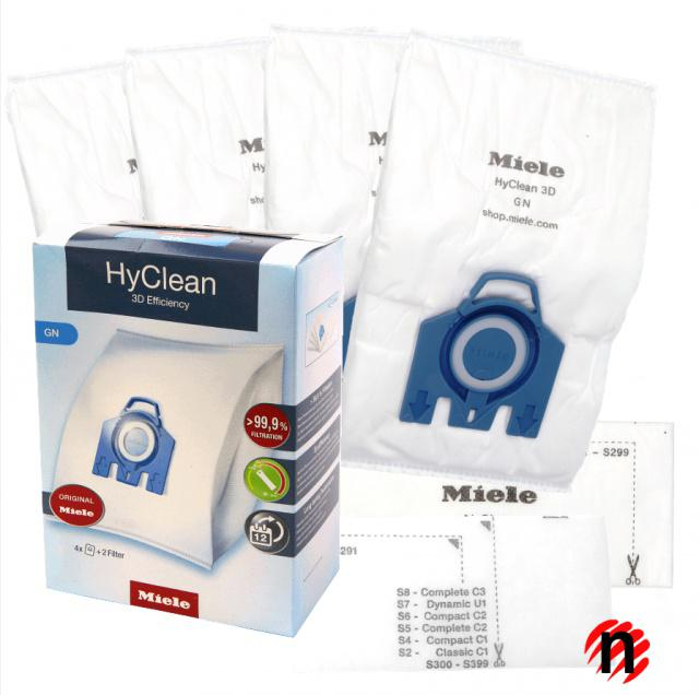 Originální sáčky do vysavače MIELE HyClean GN - 3D Efficiency 4ks Miele