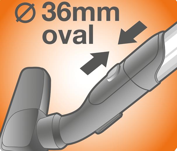 Hubice pro vysavače AEG s oválnými trubkami 36 mm - UltraOne, UltraSilencer, Pure D9 a další