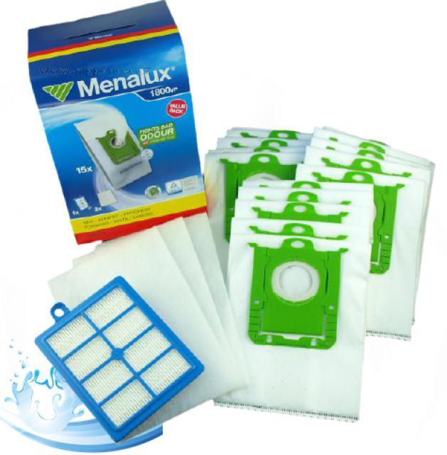 AEG Sáčky s-bag a filtr EFH13W v sadě Menalux 1800VP do vysavačů Electrolux, AEG, Philips pro AEG Viva Quickstop AVQ 2100 až 2190