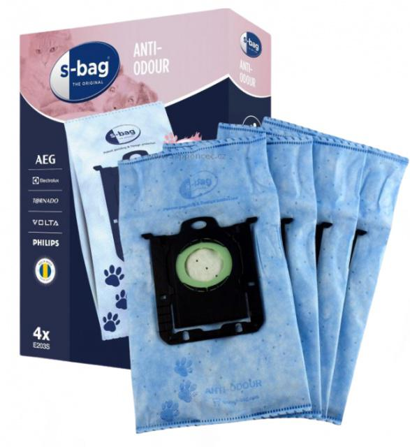 Sáčky vysavače s-bag Electrolux E203 Anti-Odour 4ks pro AEG AES 305,330,340,355
