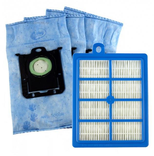 Hepa filtr Electrolux AUSK 8 a 4 ks sáčky ANTI-ODOUR pro PHILIPS FC 9060...FC 9069 Jewel PHILIPS
