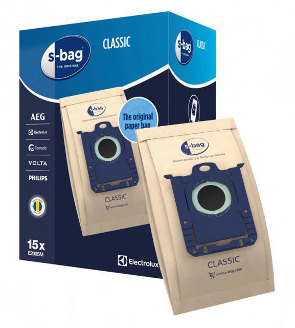 AEG Sáčky Electrolux s-Bag Classic E200M pro AEG Viva Quickstop AVQ 2100 až 2190 15ks MegaPack