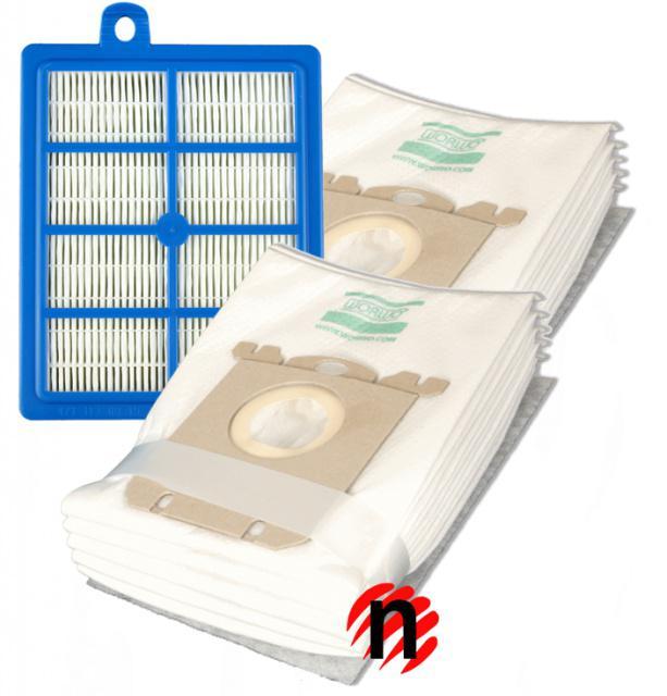 HEPA Filtr a sáčky pro AEG Viva Quickstop AVQ 2271 mikrovlákno 1+8ks