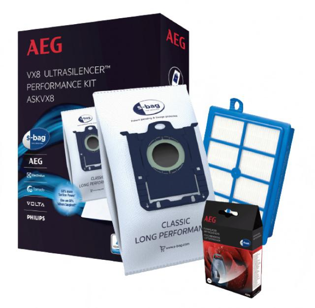 Electrolux UltraSilencer s-bag sáčky 4ks a H13 HEPA filtr pro AEG Viva Quickstop AVQ 2100 až 2190 AEG