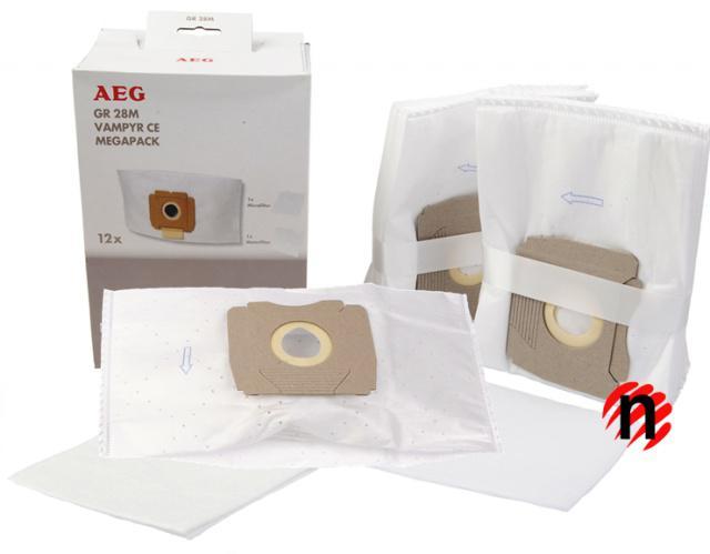 Originální sáčky AEG GR. 28 do vysavačů AEG Vampyr SE/SL,Silver,Standard 12ks