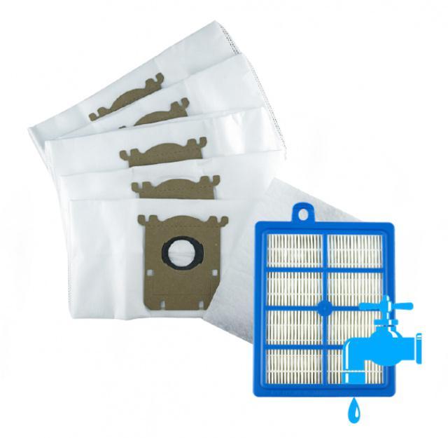 AEG HEPA filtr pro vysavače AEG Viva Quickstop AVQ 2100 až 2190 a sáčky 5L/5ks