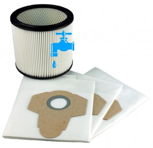 3 sáčky a filtr k LIDL PNTS 1400D1 Parkside omývatelný