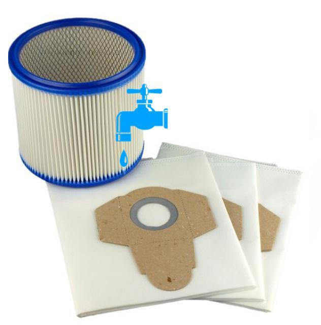 3 sáčky a filtr k vysavači LIDL PNTS 1400C1 Parkside omývatelný