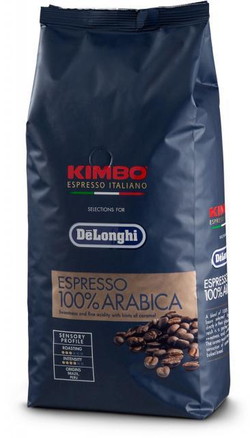 DeLonghi Kimbo Espresso Italiano zrnková káva 100% Arabica 1kg