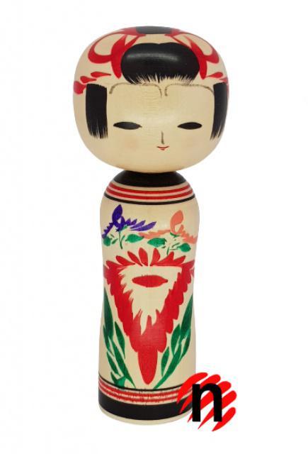 Japonská panenka Kokeshi Kikuemaki 14,5 cm