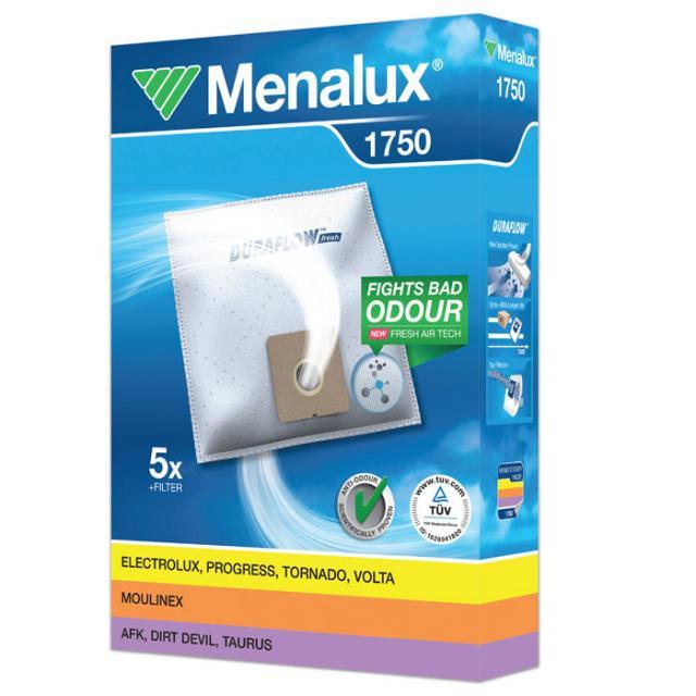 Sáčky Menalux 1750 syntetické 5ks a filtr pro SENCOR SVC 52