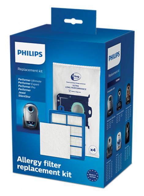 Originální sada sáčků s-bag, HEPA filtru a filtru PHILIPS FC8060/01 4+1+1ks