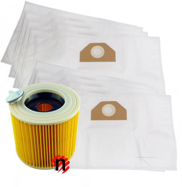 Filtr a sáčky do vysavače KARCHER WD 3.500 P 10ks textilní