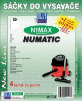 Sáčky do vysavače NUMATIC HVR 200M-22 textilní, 4ks