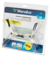 Motorový filtr a 4x metličky pro robotický vysavač Philips FC 9910/01 - Menalux