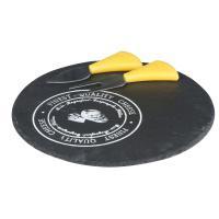 Sada na servírování sýrů Alpina - deska z přírodní břidlice