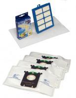 Electrolux S Bag Ultraone + H.E.P.A filtr do vysavače PHILIPS FC 9220 až 9240 Autoclean 1+4ks, fitry HEPA H13 omýv. originál Electrolux USK1 sada SBAG sáčky, filtry