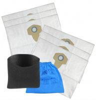 Sáčky, pěnovkový filtr a filtr do vysavače PARKSIDE Org.Gr. 30250110 , 6+2 ks