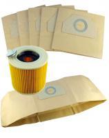 5+1 FilterSet Sáčky + filtrační patrona pro vysavače KARCHER WD 3.500 P