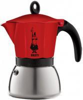 Moka konvice Bialetti Moka Induction 3 šálky Red (150 ml)