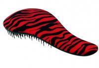 Kartáč na vlasy Detangler Brush rozčesávácí černo-červená Zebra