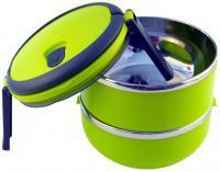 Dvoukomorový Lunch Box - přepravka na jídlo 1,4 litru - Eldom TM 140 zelený